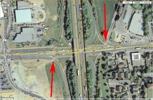 Satellitenbild der Anschlussstelle Wahn. Bild (Montage): Google.