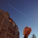Langzeit-Belichtungsaufnahme eines ISS-Überflugs. Bild: Henning Krause (CC-BY 3.0)