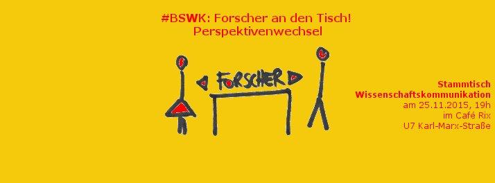 Alles so schön gelb hier: Der letzte BSWK 2015 speziell für und mit Forscherinnen und Forschern. Künstlerin: Katja Machill.
